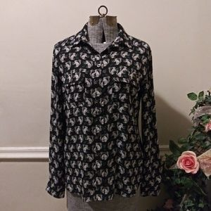 EUC Loft Squirrel Blouse